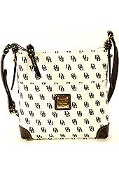 Dooney & Bourke Letter Carrier Cross-body Shoulder Bag (Black & White)