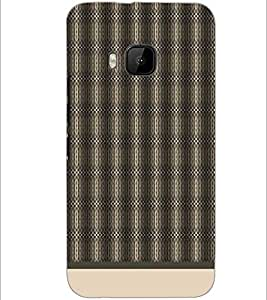 PrintDhaba Pattern D-1580 Back Case Cover for HTC ONE M9 (Multi-Coloured)