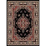 "7'8"" x 10'7"" Home Dynamix 7069-450 Black Color Machine Made Turkish ""Premium Collection"" Rug"
