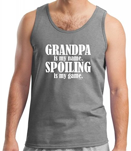 Grandpa Is My Name Spoiling Is My Game Tank Top 2Xl Sport Grey front-892768