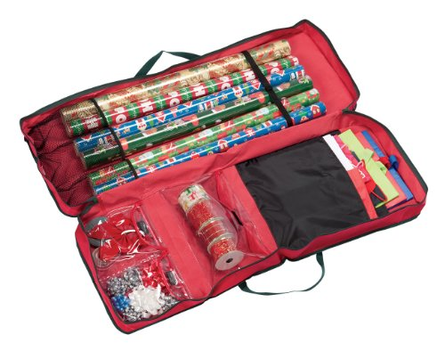 Dyno Seasonal Solutions St. Nick's Choice Rectangular Gift Wrap Organizer