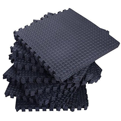 Tenive 72 Sq Ft Puzzle Exercise Mat EVA Foam Interlocking Tiles Protective Flooring Mat - 24