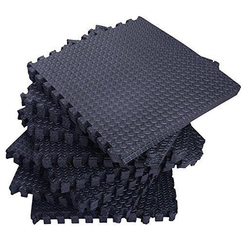 Tenive 72 Sq Ft Puzzle Exercise Mat EVA Foam Interlocking Tiles Protective Flooring Mat - 24