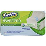 Swiffer Sweeper Wet Mopping Cloths Mop And Broom Floor Cleaner Refills Open Window Fresh Scent 12 Count (Pack of 6)