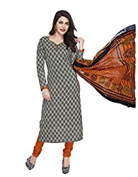 Mcm Women's Cotton Unstitched Dress Material (162029777392_Grey_Large)