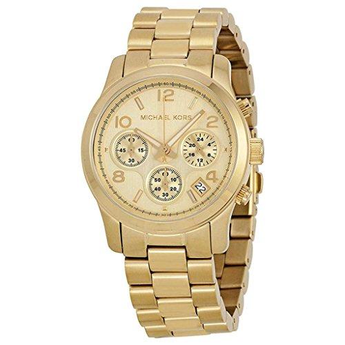 Michael Kors Midsized Chronograph Gold-Tone Unisex Watch