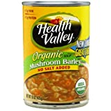 Health Valley Mushroom Barley No Salt Added, 15 Ounce Cans (Pack of 12) Reviews