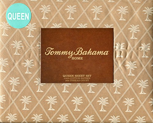 Tommy Bahama Diamond Palm Sand Sheet Set, Queen front-802242