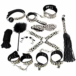 Utimi Under the Bed Bondage Restraints System in Leopard Print with 10 Pcs