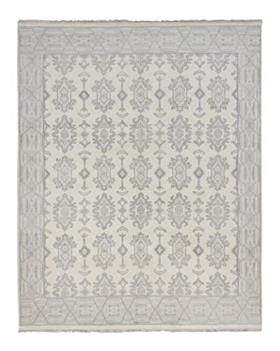 eCarpet Gallery One-of-a-Kind Hand-Knotted Royal Ushak Rug, Cream, 8' 1 x 10'