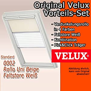 original velux vorteils set verdunkelungs rollo faltstore plissee dfd m06 0002s f r ggl. Black Bedroom Furniture Sets. Home Design Ideas