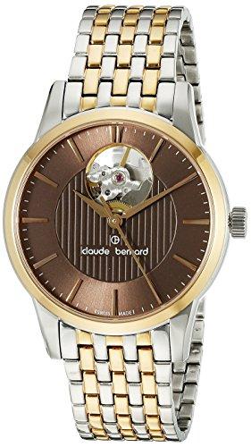 Claude-Bernard-Womens-85018-357RM-BRIR-Automatic-Open-Heart-Two-Tone-Stainless-Steel-Watch
