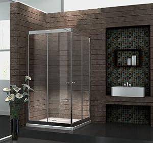 6 mm Duschkabine Duschabtrennung EckDusche Schiebetür 100 x 100 x 195 cm SLIDE ohne Duschtasse  Kritiken und weitere Informationen