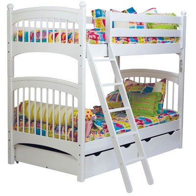Low Loft Bed With Storage 175782 front