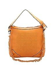 Aadaana Trendsetting Women's Orange Hand-held Bag