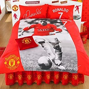 Manchester united ronaldo double lit housse de couette et - Amazon housse de couette ...