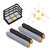 i clean 2 set replacement tangle free debris extractor  4 hepa filters  4 side brush kit irobot roomba 800 900 series 870 880 980 vacuum cleaning robots