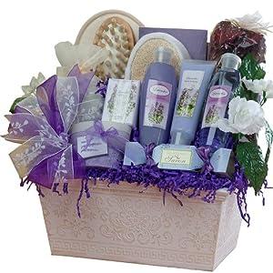 Art of Appreciation Gift Baskets Large Lavender Renewal Spa, Bath and Body Set