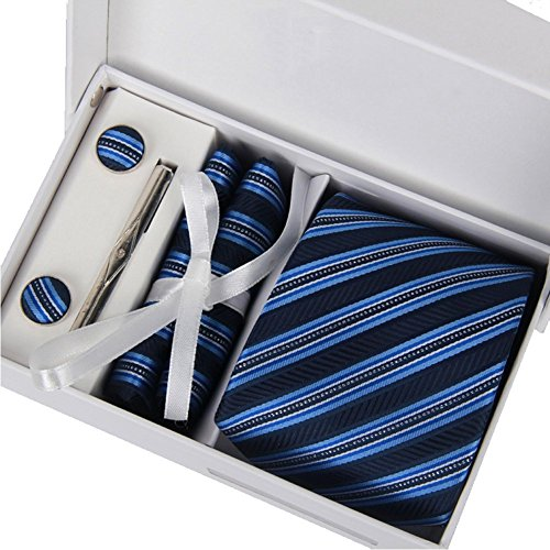 Business Suits Marriage Tie Set Hanky Cufflink for Men (01)