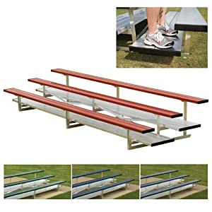 5 Row 15 Powder Coated Pref Bleachers Color Red Sold Per Each from SSG / BSN