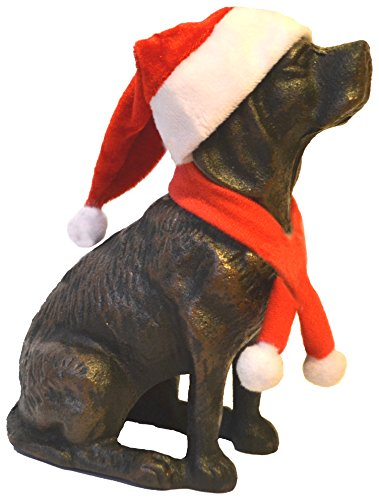 Lulu Decor, Cast Iron Dog Door Stopper, Doorstops, Sculpture, Dog Statue 4 Lbs (Black C62)