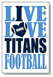 Live Love I Heart Titans Football lined journal - any occasion gift idea for Tennessee Titans fans from WriteDrawDesign.com