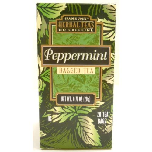 Trader Joes Herbal No Caffeine Peppermint Bag Tea 20 Tea