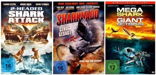 DIE HAI - COLLECTION ( Sharknado - 2 Headed Shark Attack - Mega Shark vs Giant Octopus ) [3 DVDs]
