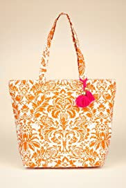 Pure Cotton Floral Print Tote Bag [T83-6082Y-S]