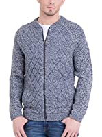 Big Star Chaqueta Punto Comop_Zip_Sweater (Azul Jaspeado)