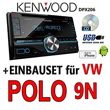 Volkswagen polo 9N kenwood dPX 206-2DIN uSB