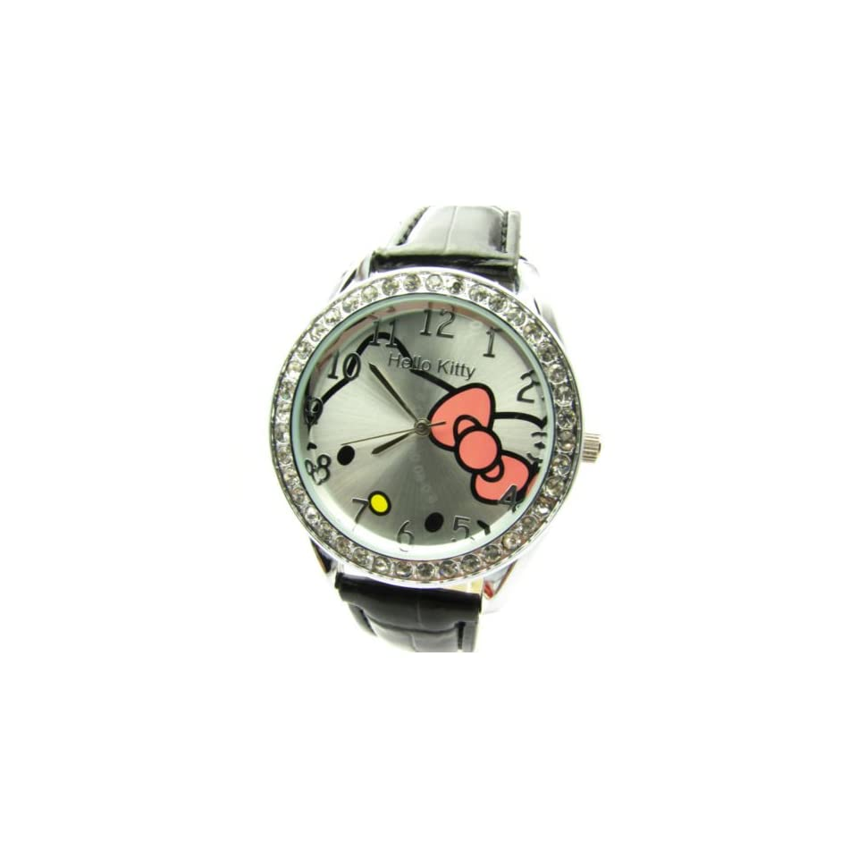Miss Peggy Jos   Hello Kitty Classic Style Quartz Watch bezel Is About the Size of a Silver Dollar   Comes with a Hello Kitty Necklace