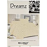Reliable Cotton Double Bedsheet With Pillow Covers - Queen Size, Yellow