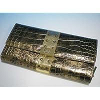 (ファルチ ニューヨーク)Falchi New York 長財布 SW-RE-093 ブロンズゴールド クロコ調型押し