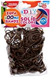 D.I.Y. Do it Yourself Bracelet Zupa Loomi Bandz 600 BROWN Rubber Bands with S Clips