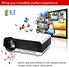 EXCELVAN Android 42 Movie Projector 2700 Lumens Wifi Projector for your Blue-ray Player XBOX PlaySta