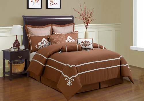 Stunning  Piece King Joshwa Bed in a Bag w TC Cotton Sheet Set