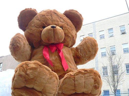 GIANT 48'' FRIENDLY TEDDY BEAR - HUGE SOFT JUMBO STUFFED PLUSH BEAR - COLOR: BROWN