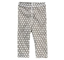 Dwellstudio Organic Cotton Leggings, Starburst Chocolate, 6-12 Months