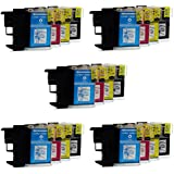 Prestige Cartridge b985/1100-908 LC1100/LC985 Lot de 20 Cartouches d'encre Noir/Cyan/Magenta/Jaune