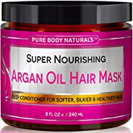 Argan Oil Hair Mask, 8 oz. Hair Treatment Therapy, Deep Conditioner for Damaged & Dry Hair, Heals &…