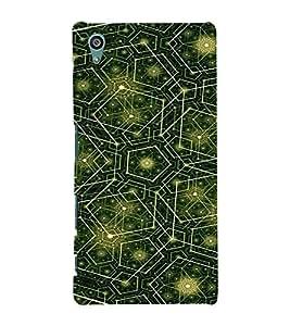 EPICCASE Trippy green Mobile Back Case Cover For Sony Xperia Z5 (Designer Case)