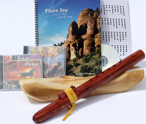 Windpony Key of A, 6-Hole Cedar Native American Flute, Book & 3 CDs (Retail Value $149.95)