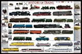 (24x36) History of Trains Railroad Educational Chart Poster