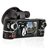 "inDigi® 2.7"" TFT LCD Dual Camera Rotated Lens Car DVR Vehicle Video Recorder Dash Cam"