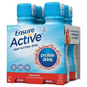 Ensure Clear® Mixed Fruit Nutritional Drink / 10-fl oz bottle (4 bottles)  	Mixed Fruit