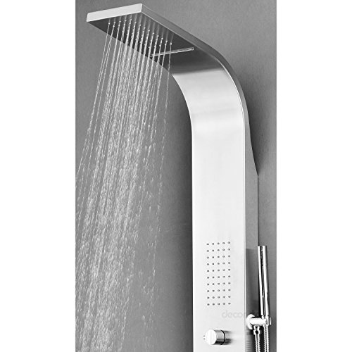 Decor star 004 ss 64 inch stainless steel rainfall shower for Decor star 004 ss