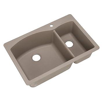 Blanco 441282 Diamond 1-1/2 Bowl Silgranit II Sink, Truffle