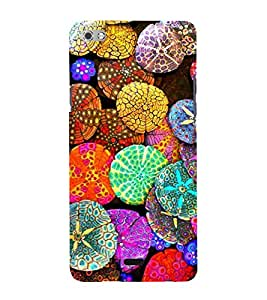 Bright Colour Pattern 3D Hard Polycarbonate Designer Back Case Cover for Micromax Canvas Sliver 5 Q450