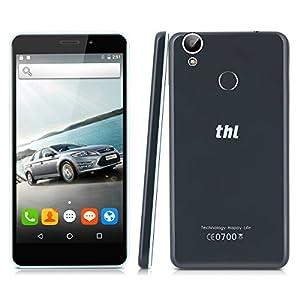 THL T9 PRO - 4G Smartphone Libre Android 6.0 (Pantalla 5.5'' IPS, MT6737 Quad Core 1.3 GHz, 2GRam, 16GRom, Dual Sim, Huella Dactilar Smart Wake) (Negro)
